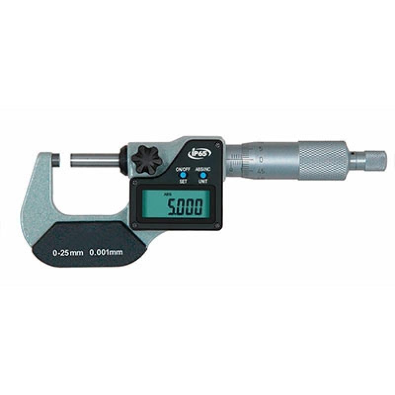 Micrômetro Externo Digital 0-25mm Paulínia - Micrômetro Externo Digital com Ip 65